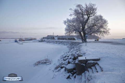 Форт Константин зимой