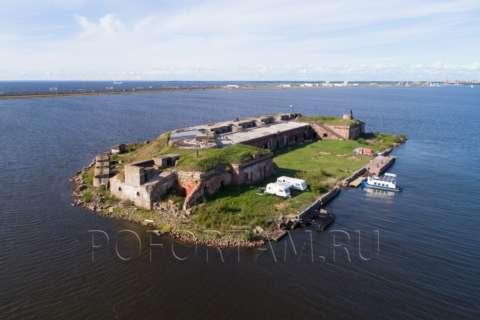Форт Граф Милютин: фото с воздуха