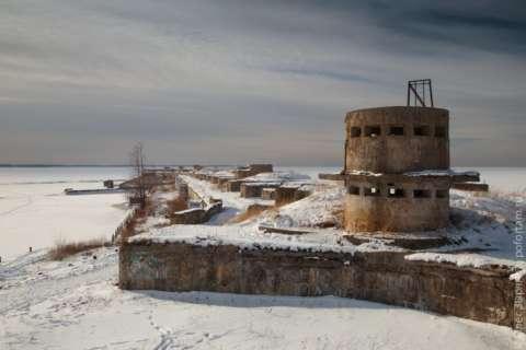 40 минут по льду к форту Обручев