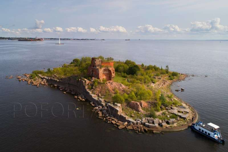 Форт Павел І: фото с воздуха