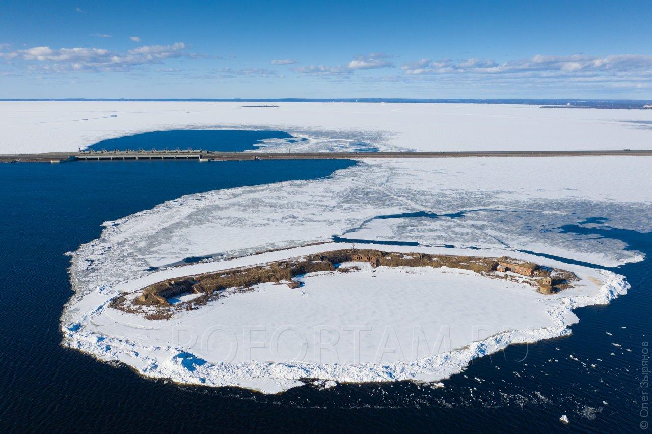 Форт Северный №5 зимой