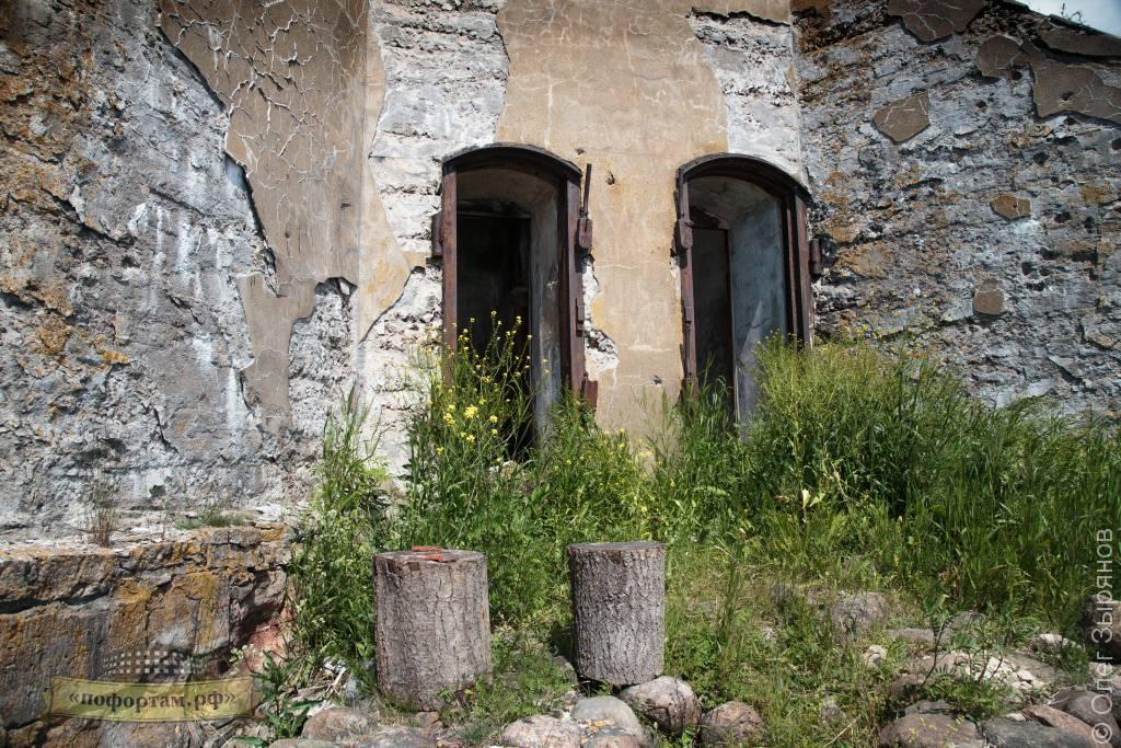 Казематированный пост охраны на форте Зверев