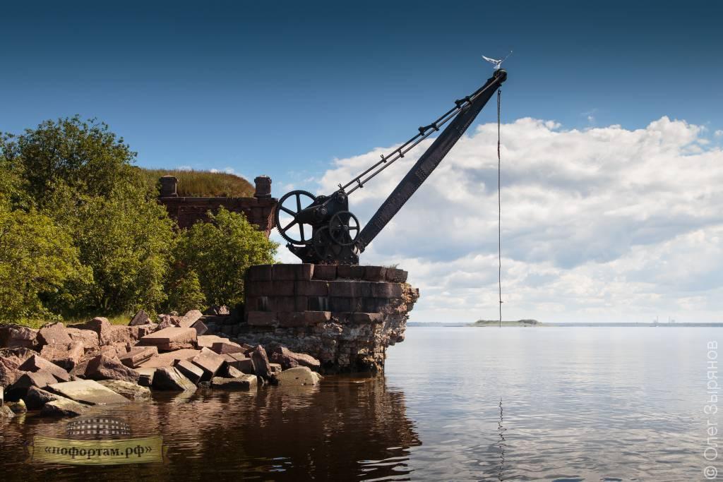 Кран на форту Зверев