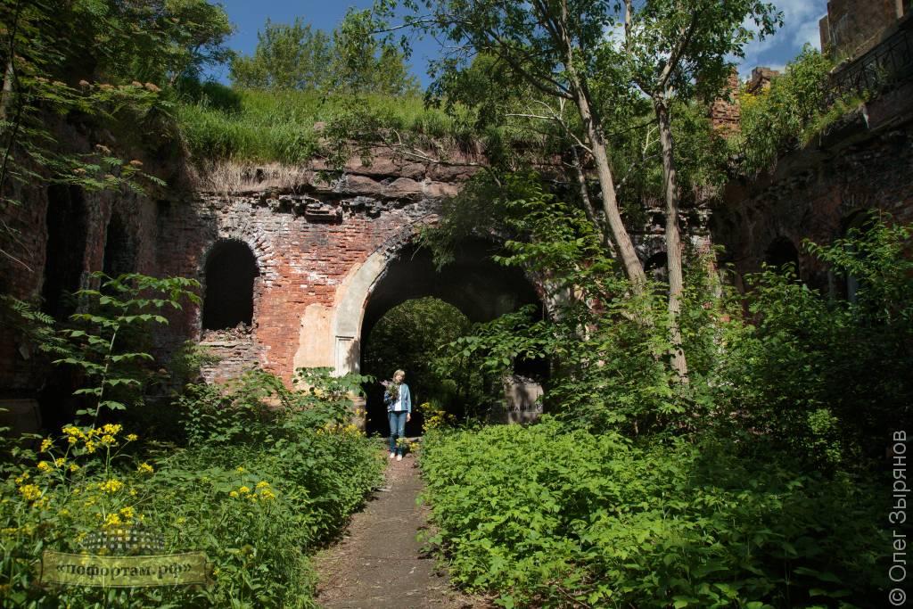 Внутренний двор форта Зверев