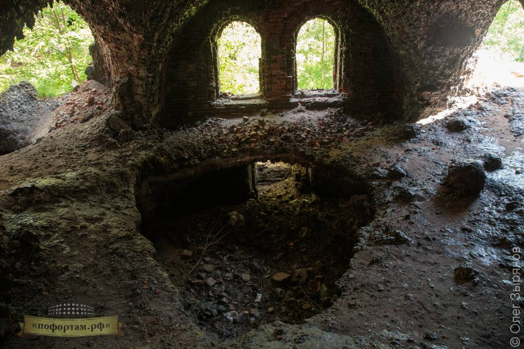Расплавившийся пол форта