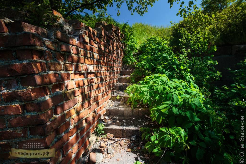 Лестница ведущая на крышу форта