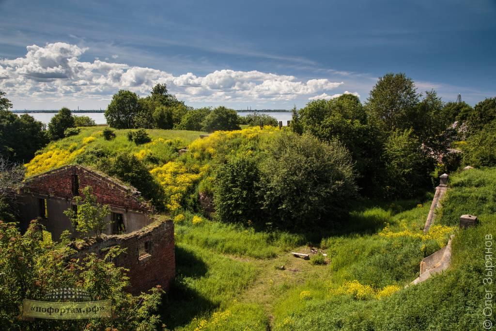 Вид на форт Зверев из командного пункта