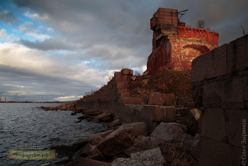Разрушенный форт Павел