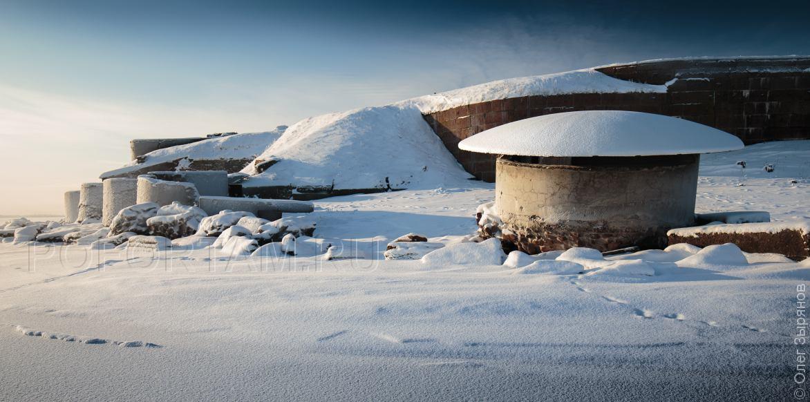 Форт Южный  зимой
