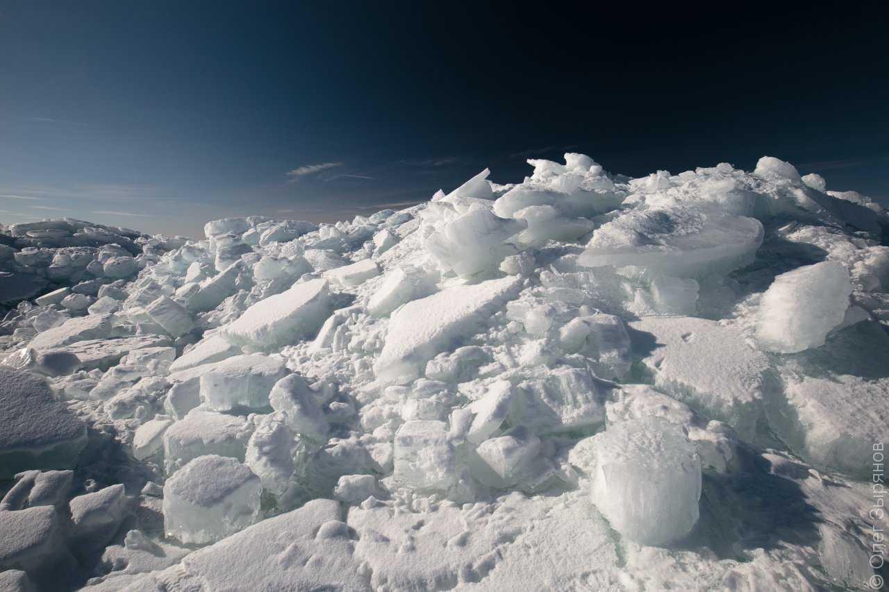 Ледяные торосы на побережье о. Котлин