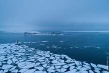Кронштадтский рейд во льдах