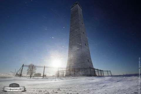 Деревянный маяк в Кронштадте / створный маяк БКР