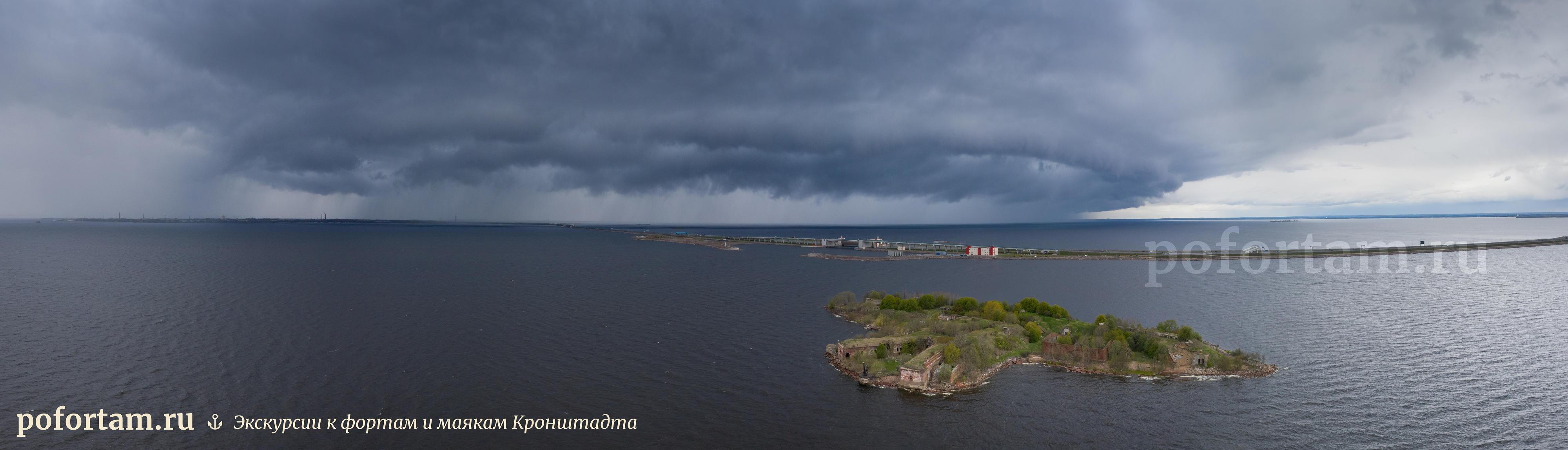 Кронштадт сверху — форт Зверев