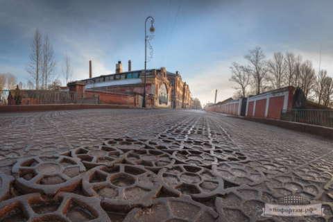 Кронштадт зимой: Пеньковый мост
