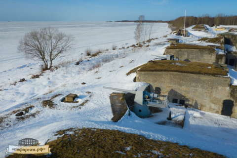 Кронштадт зимой: Батарея «Демидов»
