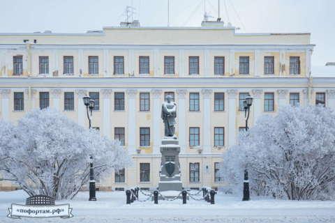 Кронштадт зимой: Итальянский дворец