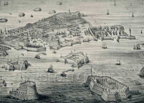 Маяк Фридрихштадтский на старой карте