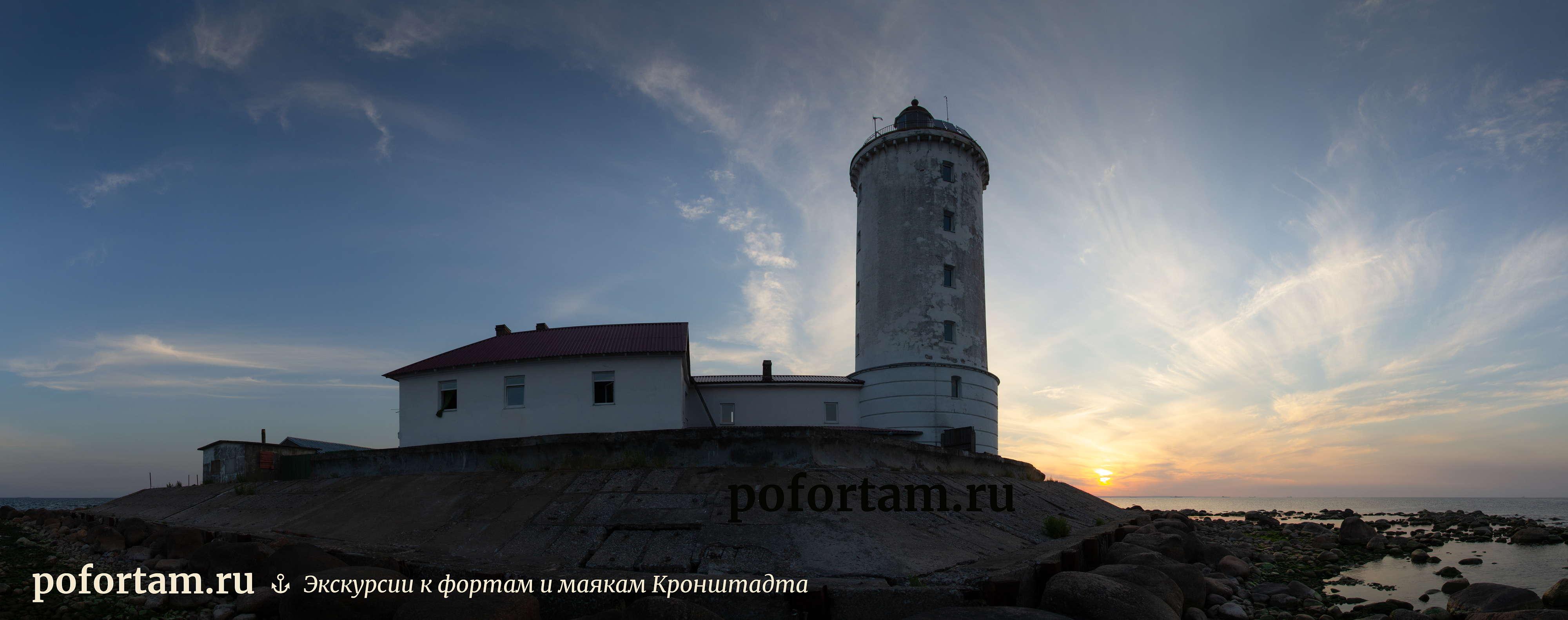 Маяк Толбухин на закате
