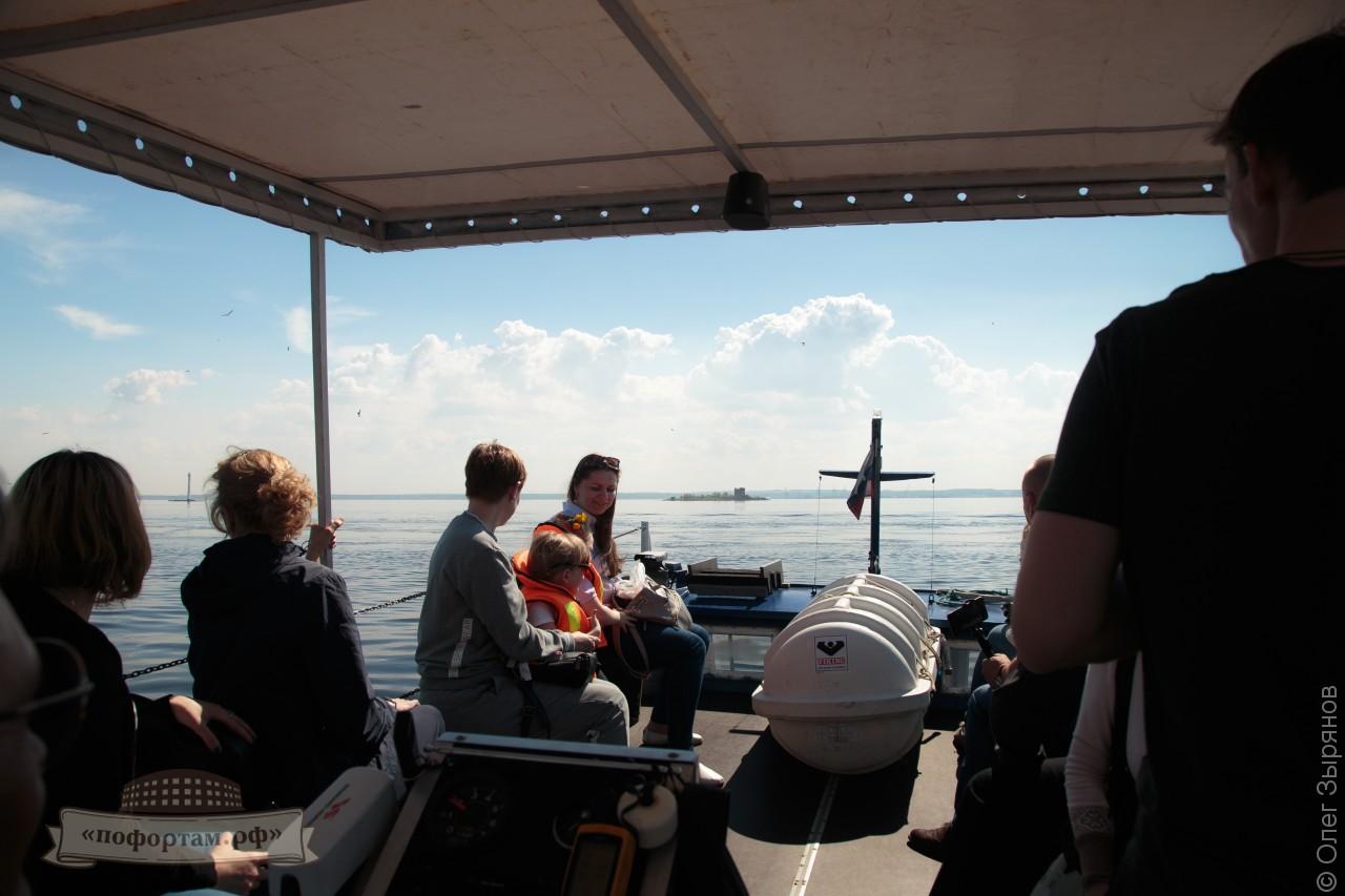 Морская прогулка по рейдам Кронштадта