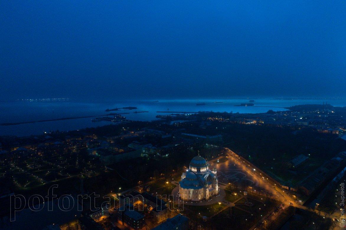 Вечерний Кронштадт сверху