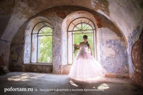 Свадебная фото-сессия на фортах Кронштадта.